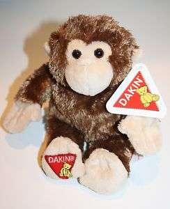 Dakin SOFT Plush Brown/Tan Monkey Big Lots Beans 8 Paper Hang Tag HTF