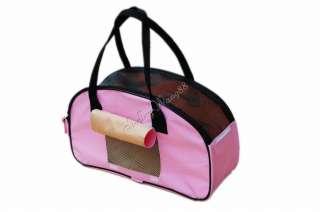 Comfort Pet Carrier Dog Cat Tote Bag Bone Mesh Handbag Shoulder Pink