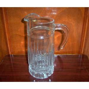 Tall Glass Water Pitcher with Handle    10x4 Kitchen