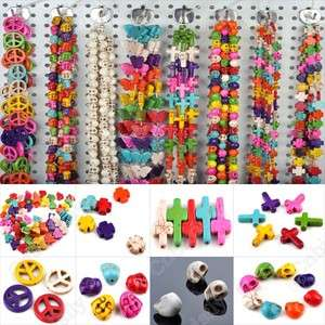 Wholesale Mixed lots 100pcs Cross Peace Skull Pony Beads Goth jewelry