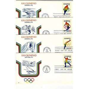 USA Four First Day Covers 1976 Olympics Scott # 1695 8