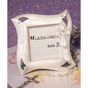White Cross Design Frame Favors