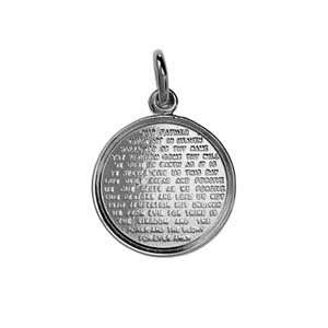 Silver 16mm round The Lords Prayer Pendant Jewelry