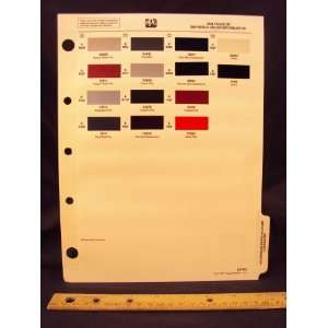 1991 91 PEUGEOT IMPORTED Paint Colors Chip Page Peugeot