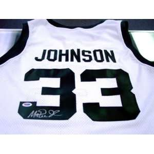 Magic Johnson Autographed Uniform   MSU PSA DNA  Sports
