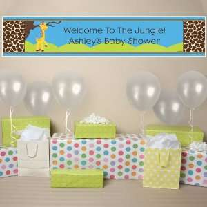 Giraffe Boy   Personalized Baby Shower Banner Toys & Games
