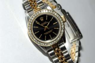 Rolex Oyster Perpetual lady 67193 with diamond bezel