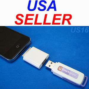 iPAD iPOD iPHONE USB ADAPTER FOR FLASH STICK THUMB DATA MEMORY DRIVE