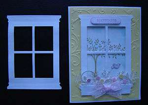 Window Die Cut   Made with Stampin Up Paper   for handmade cards