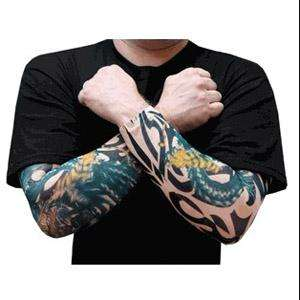 Cool Stretch Tattoo Sleeves Evil Dragon & tiger Art Body