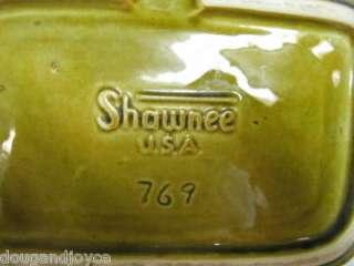 Older SHAWNEE Water Wheel/House GREEN PLANTER #769