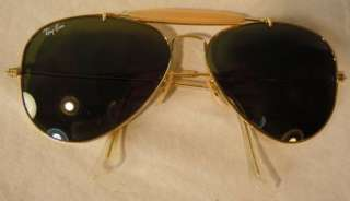 VINTAGE B&L BAUSCH & LOMB RAY BAN G15 GOLD OUTDOORMAN AVIATOR