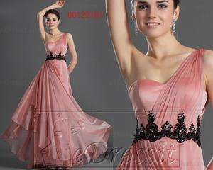 New Single Shoulder Evening Dress Prom Ball Gown US 4 18