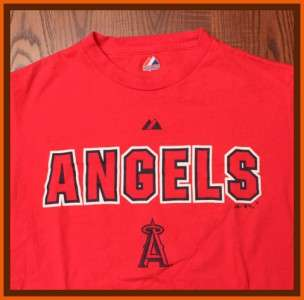 Anaheim Angels MLB Baseball Authentic Bold Angels Team Emblem Red