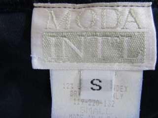 MODA International Victorias Secret Navy Blue Stretch Velvet Midi