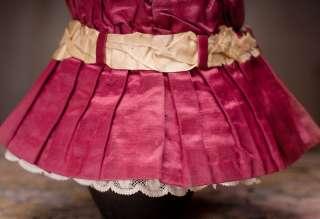 Antique Original DRESS for Jumeau, Bru, Steiner Bebe doll about 18