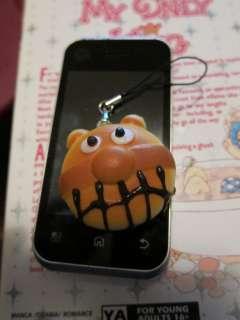 Baikinman Small Cell Phone Bun Charm Squishy Charm Kawaii
