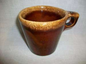 Vintage HULL Ovenproof USA Drip Coffee Mug Cup Brown
