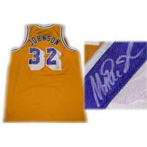 Magic Johnson Los Angeles Lakers Autographed Throwback Jersey
