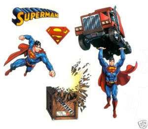 21 Superman Room Decor Kids Boys Decals Wall Stickers