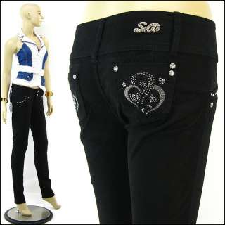 Length Butt Lifter Jeans Levanta Cola Rhinestone Skinny Jeans Black