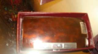 Ronson Pal Cigarette Case with Lighter  BROWN+ Chrome~