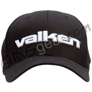 2010 Valken Flex Fit 3D Text Hat   Black Sports