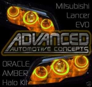 Mitsubishi Lancer EVO Headlight hid HALO Demon Eyes Kit