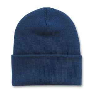 NAVY BLUE LONG BEANIE SKI CAP CAPS HAT HATS CUFFED