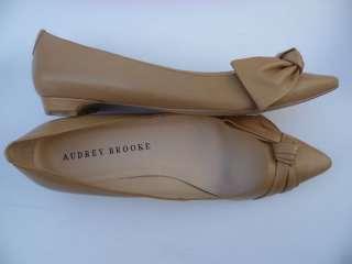 AUDREY BROOKE LADIES DRESS SHOES LIGH NAURAL SIZE 9.5M  