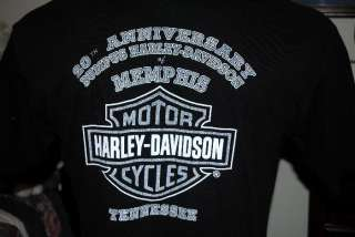 HARLEY DAVIDSON MOTORCYCLE T SHIRT MEMPHIS, TN Sz L