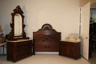 Lillian Russell Full Size Bedroom Suite Rare Vanity Dresser Stool