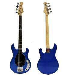 MSB S1 Metallic Blue 4 string Electric Bass Guitar