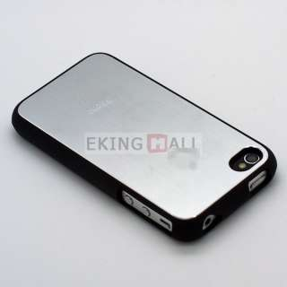 New Aluminum Metal Back Skin Hard Case Cover for Apple iPhone 4 4S