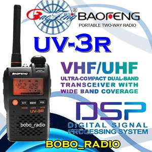 UV 3R 136 174/400 470Mhz MINI DUAL BAND POCKET RADIO