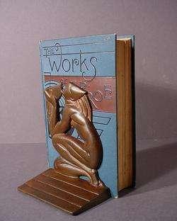 MODERNIST MID CENTURY IRON BOOKENDS *DRINKING MAN* ART DECO EAMES ART