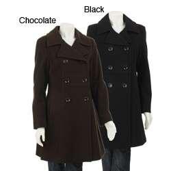 AK Anne Klein Womens Wool Walker Coat