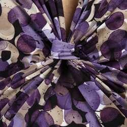 Connected Apparel Womens Purple Short sleeve Dress