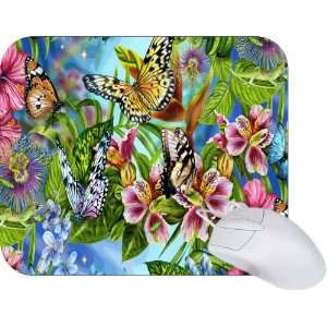 Rikki Knight Butterfly Art Design Mouse Pad Mousepad