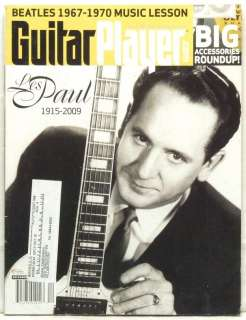 GUITAR PLAYER MAGAZINE LES PAUL 1915 2009 DEATH TRIBUTE RANDY RHOADS
