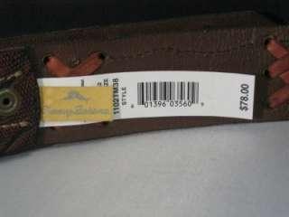 NEW WITH TAG $78~TOMMY BAHAMA~MENS NICE COGNAC BROWN X LEATHER BELT