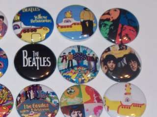 LOT OF 15 BEATLES YELLOW SUBMARINE BUTTONS PINS BADGES
