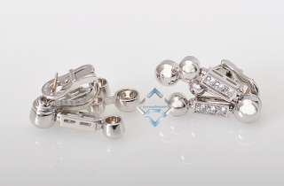 Bvlgari 18k White Gold Diamond Necklace Earring Set