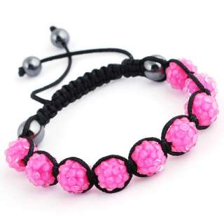 SL92 Braid Bracelets Bangles Chains Pave Resin (9p) Disco Ball Beads