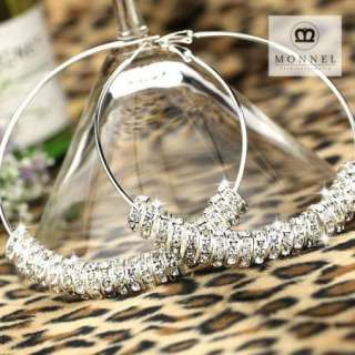 BK29 HOT Basketball Wives Circle Hoops Earring Fashion Jewelry Beads