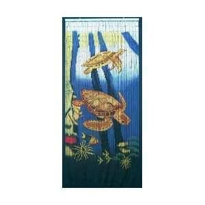 Bamboo54 Sea Turtle Scene Curtain Decor