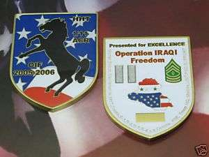 US ARMY OIF HHT 1/11 ARMOR CAVALRY REGIMENT IRONHORSE