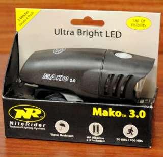 NITERIDER MAKO 3.0 CREE LED BICYCLE BIKE FRONT LIGHT HEADLIGHT WITH