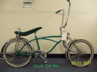 20 LOWRIDER BIKE WITH 72 SPOKES BENT FORK COASTER!