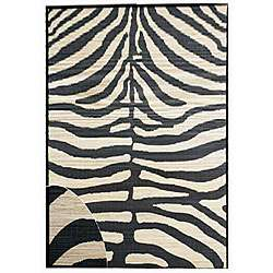 Hand woven Zebra Bamboo Rug (6 x 9)